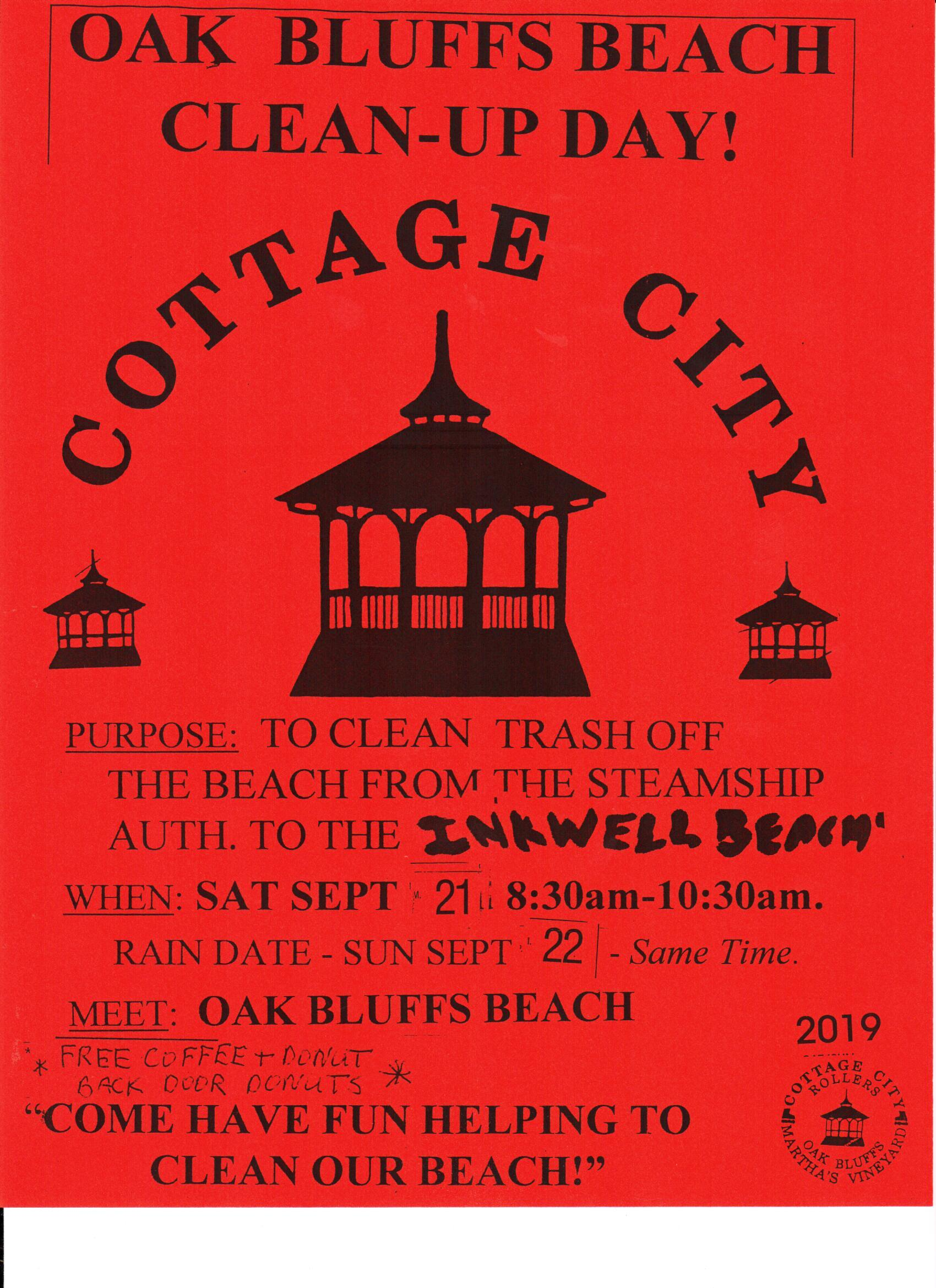 Cottage City Beach Clean Up 2019